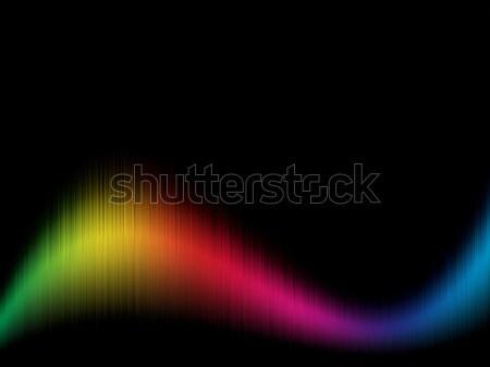 Spectrum kleur golvend zwarte exemplaar ruimte ontwerp Stockfoto © tuulijumala