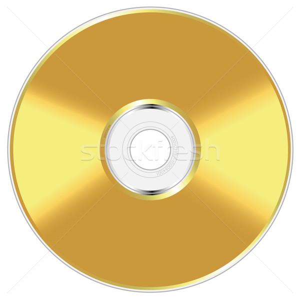 Realistyczny złoty dysk odizolowany biały oprogramowania Zdjęcia stock © tuulijumala