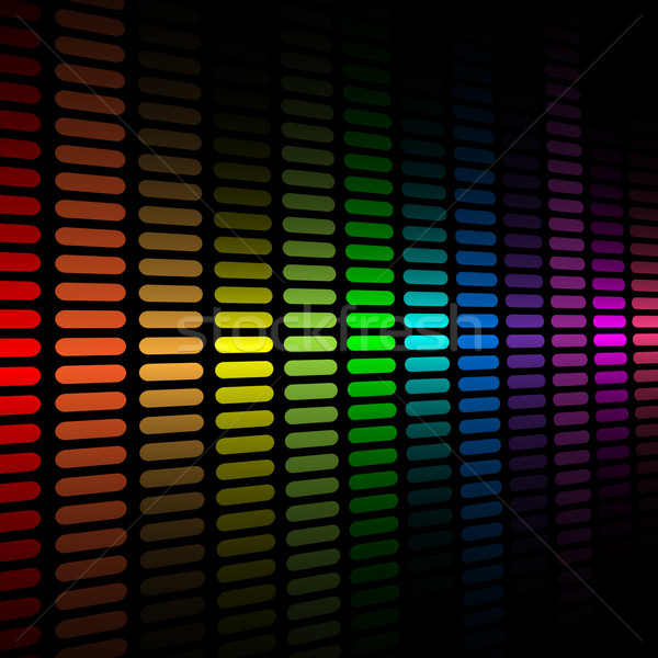 Vector background with abstract color spectrum music graphic equ Stock photo © tuulijumala