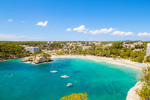 Um popular praias ilha Espanha céu Foto stock © tuulijumala
