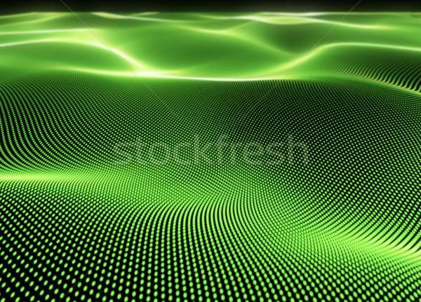 Abstract 3D green dot particles digital background. Stock photo © tuulijumala