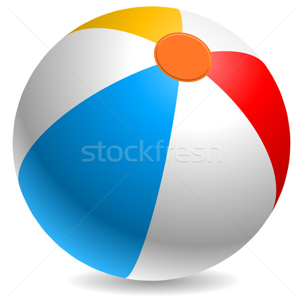 Colorido bola de praia branco vermelho amarelo azul Foto stock © tuulijumala