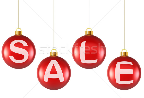 Opknoping decoratie christmas Rood verkoop Stockfoto © tuulijumala