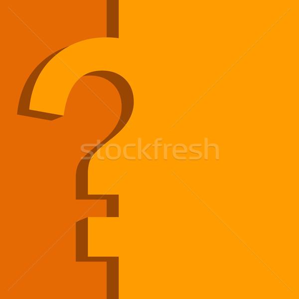 Orange jaune questionnaire design vecteur modèle Photo stock © tuulijumala