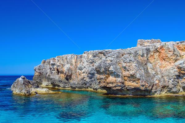 Sul costa penhasco ilha pequeno antigo Foto stock © tuulijumala