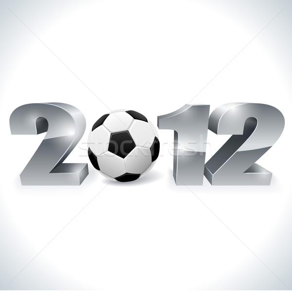 2012 voetbal kampioenschap teken witte eps10 Stockfoto © tuulijumala