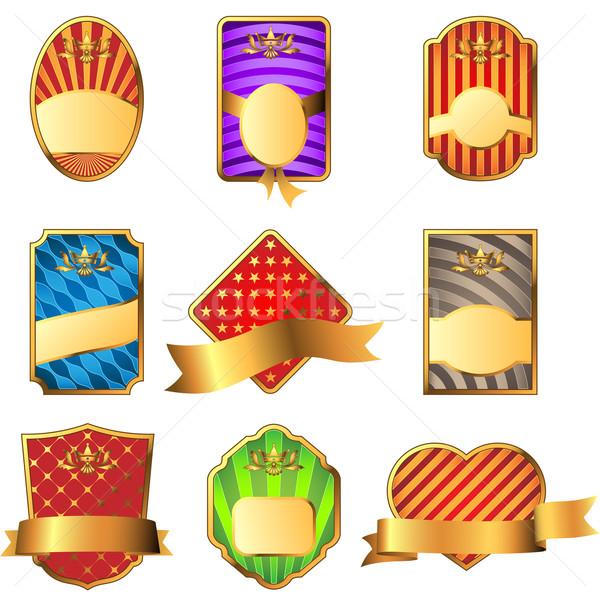 Vector set of decorative labels isolated on white background. Stock photo © tuulijumala