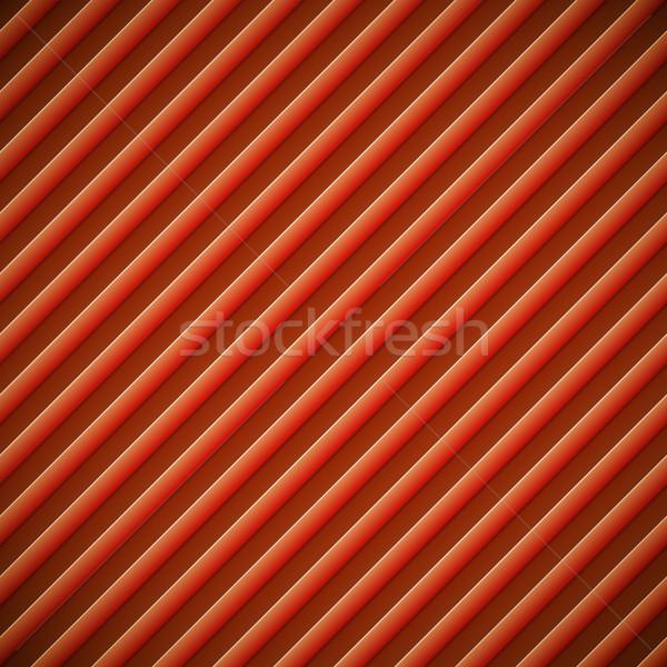 Abstract diagonal bumped stripes red vector background. Stock photo © tuulijumala