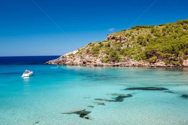 Menorca seascape at cala de Algariens, Spain. Stock photo © tuulijumala