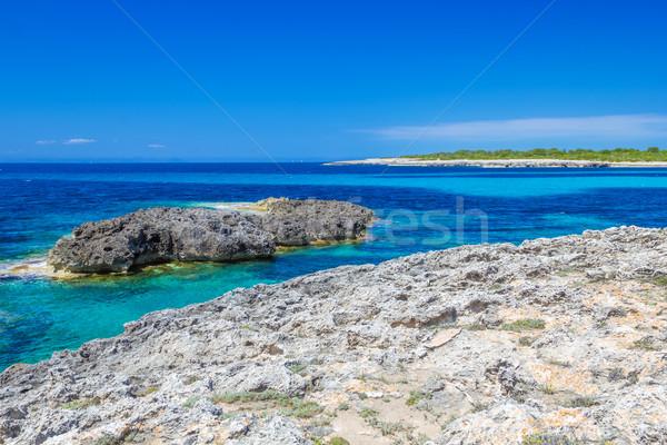 Menorca island coast view on Mediterranean Sea. Stock photo © tuulijumala