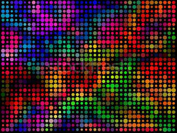 Abstract colorful circles mosaic horizontal vector background. Stock photo © tuulijumala