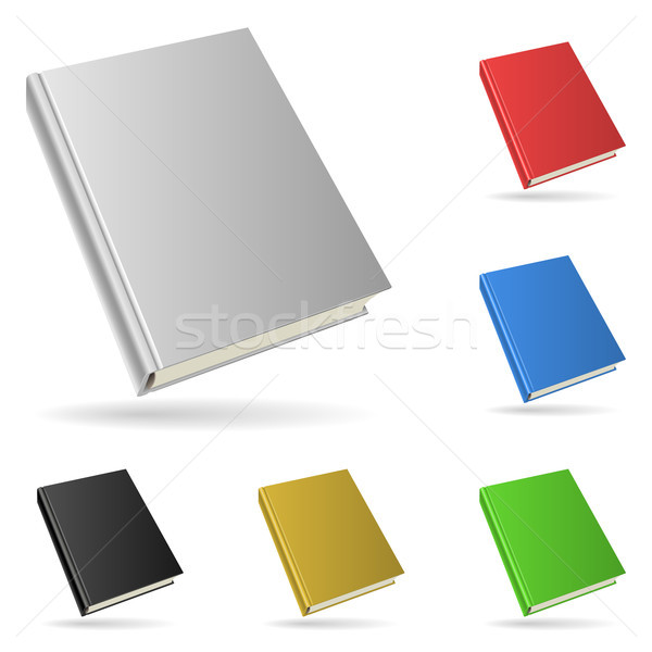 Twarda oprawa książki odizolowany biały kolor papieru Zdjęcia stock © tuulijumala