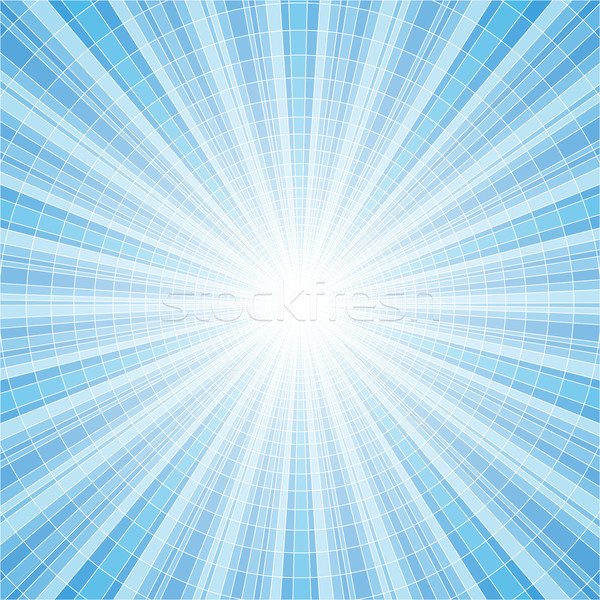 Abstract blue radial rays tile vector background Stock photo © tuulijumala