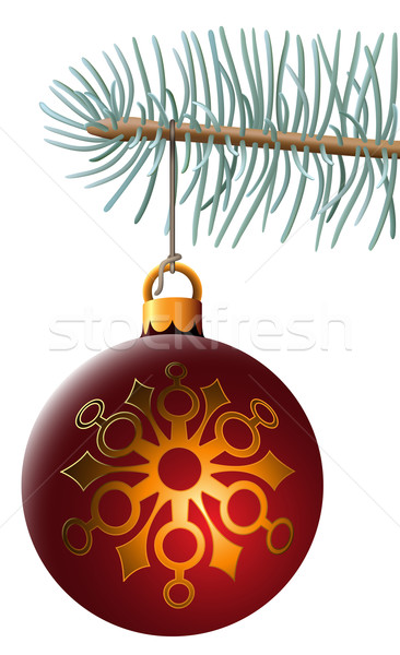 Navidad pelota colgante azul ataviar sujetador Foto stock © tuulijumala