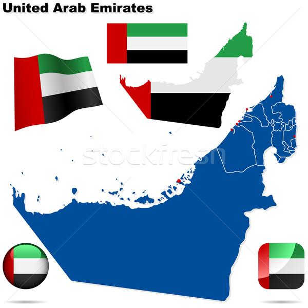 Emirati Arabi Uniti vettore set dettagliato paese Foto d'archivio © tuulijumala