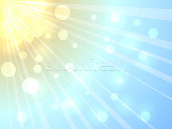 Lata słońca jasne wektora eps10 pliku Zdjęcia stock © tuulijumala