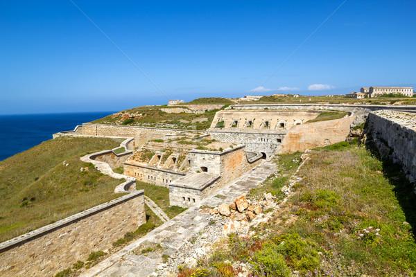 La Mola Fortress of Isabel II at Menorca Stock photo © tuulijumala