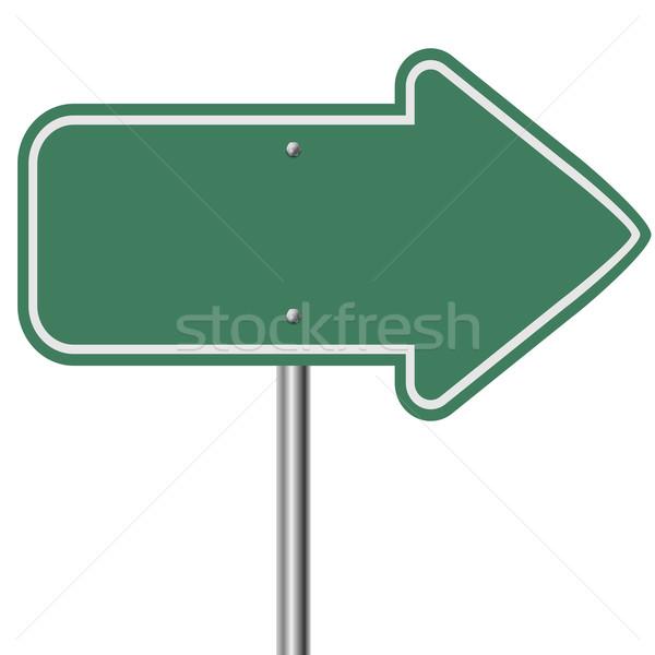 Groene snelweg pijl geïsoleerd witte weg Stockfoto © tuulijumala