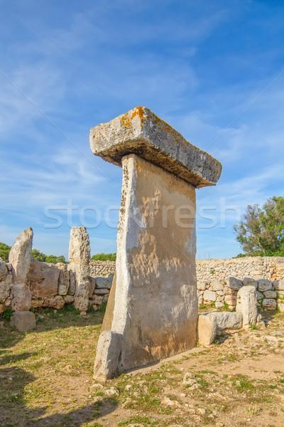 Taula megalithic monument in Torralba den Salord, Menorca, Spain Stock photo © tuulijumala