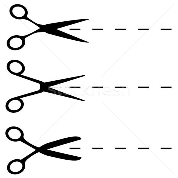 Nożyczki czarny wektora odizolowany biały Zdjęcia stock © tuulijumala