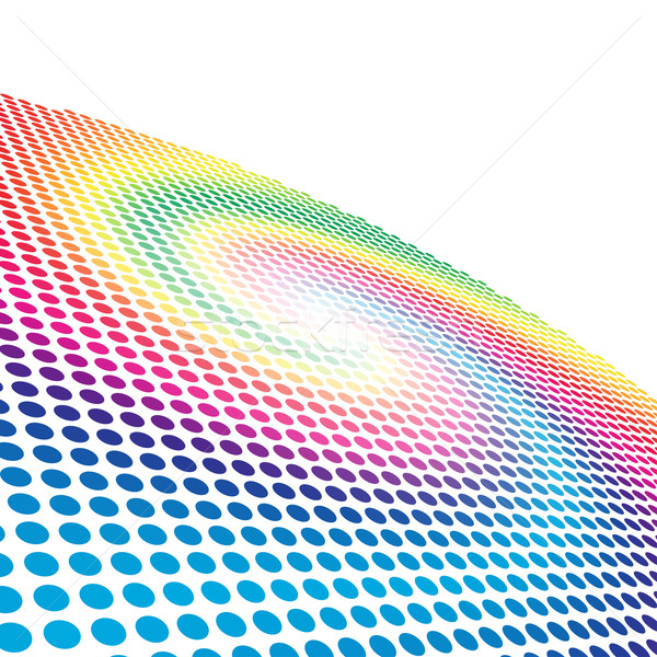 Abstract spectrum spiral circle pattern background with copy spa Stock photo © tuulijumala