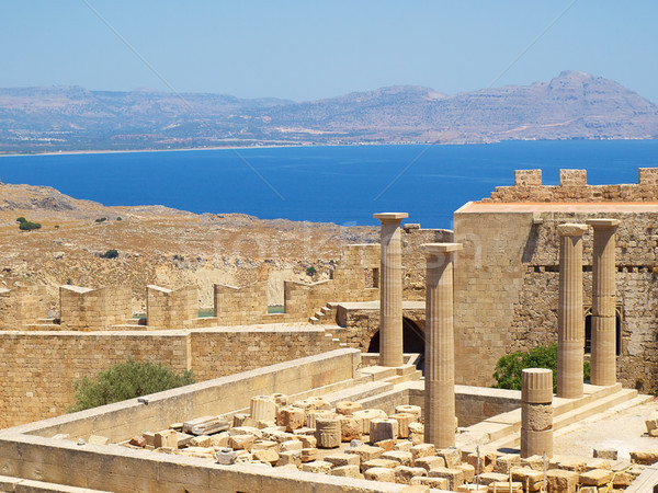 Ver antigo grego Acrópole ilha Grécia Foto stock © tuulijumala