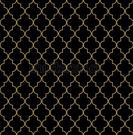 Seamless golden oriental window grille Stock photo © tuulijumala