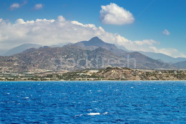 Eiland bergen zee strand berg Stockfoto © tuulijumala