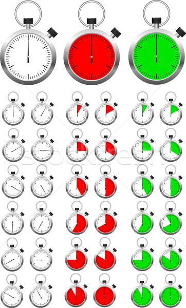 Set of vector stopwatch timers indicating different periods of t Stock photo © tuulijumala