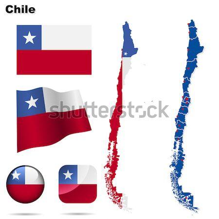 Панама вектора набор подробный стране форма Сток-фото © tuulijumala