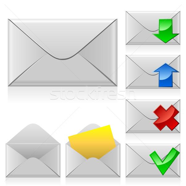 Mail vector iconen gesloten envelop Stockfoto © tuulijumala