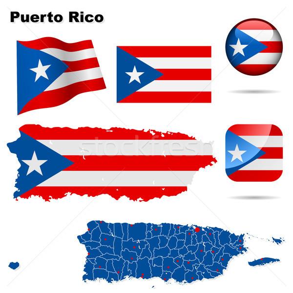 Puerto Rico vector ingesteld gedetailleerd land vorm Stockfoto © tuulijumala