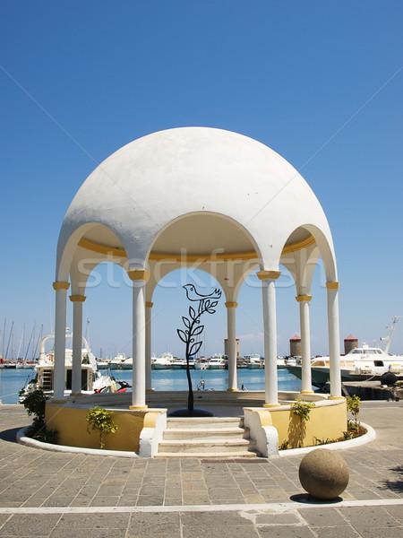 Mandraki embankment pavilion Stock photo © tuulijumala