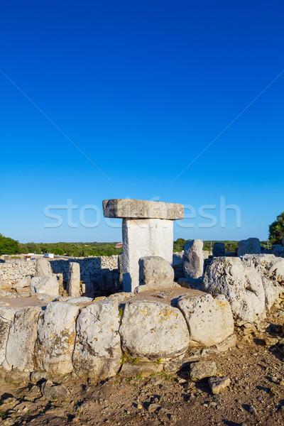 Torralba d'en Salort Menorca taules, Spain. Stock photo © tuulijumala