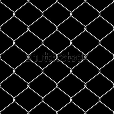 Realistic wire chainlink fence seamless vector texture with back Stock photo © tuulijumala