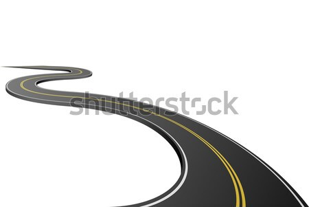 Abstract asphalt road isolated on white background. Stock photo © tuulijumala