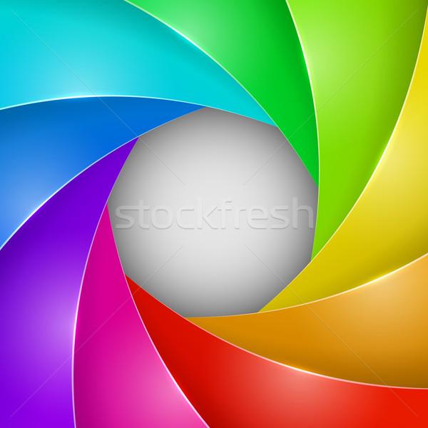 Abstract colorful photo shutter aperture Stock photo © tuulijumala