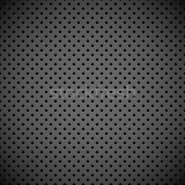 Abstract industrial perforated metal plate vector background. Stock photo © tuulijumala