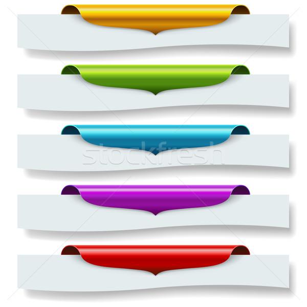 Kleurrijk top pagina beneden vector Stockfoto © tuulijumala