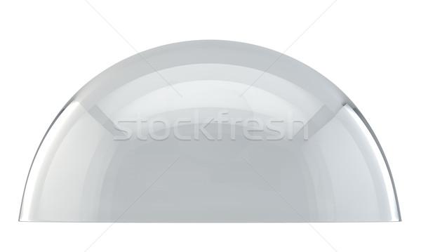 ガラス ドーム 側面図 孤立した 白 抽象的な ストックフォト © tuulijumala