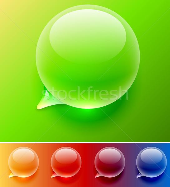 Vízcsepp szöveglufi vektor sablon könnyű apró Stock fotó © tuulijumala