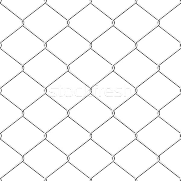 Realistic wire chain-link fence seamless vector background. Stock photo © tuulijumala