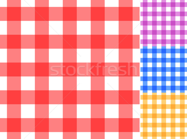 Seamless red and white tablecloth vector pattern. Stock photo © tuulijumala