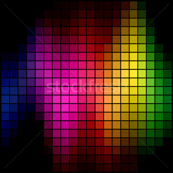 Abstract multicolor spectrum spot mosaic background. Stock photo © tuulijumala
