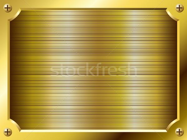Blank golden plate vector background. Stock photo © tuulijumala