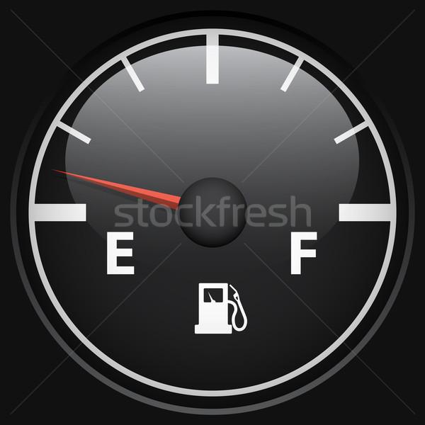 Black fuel gage Stock photo © tuulijumala