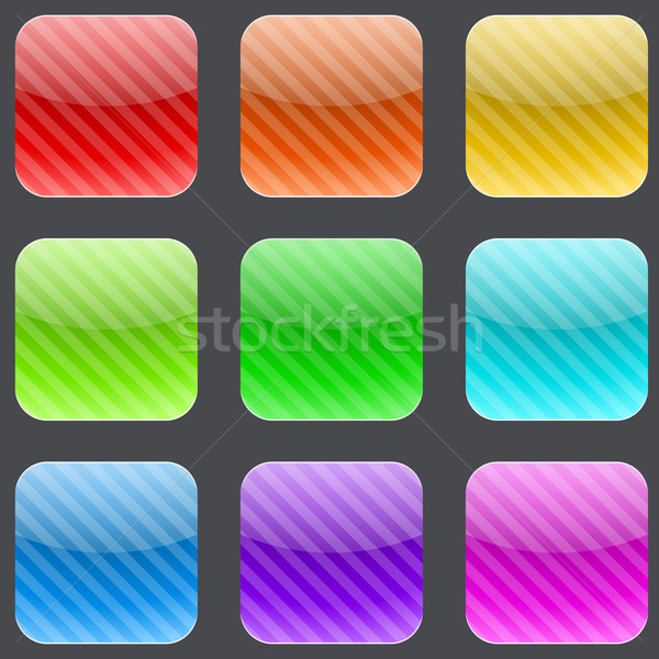 Varicolored striped rounded square buttons Stock photo © tuulijumala