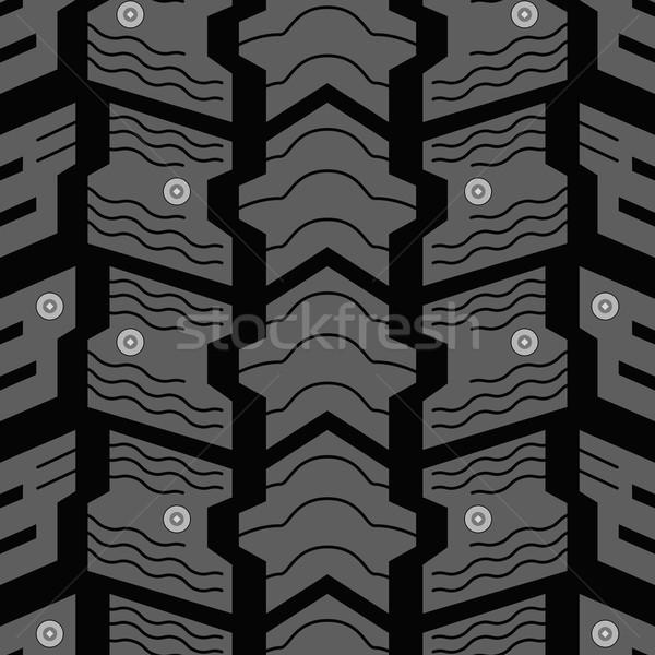 Auto winter band naadloos vector patroon Stockfoto © tuulijumala