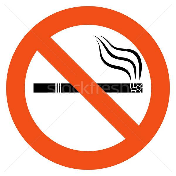 No smoking vector sign Stock photo © tuulijumala