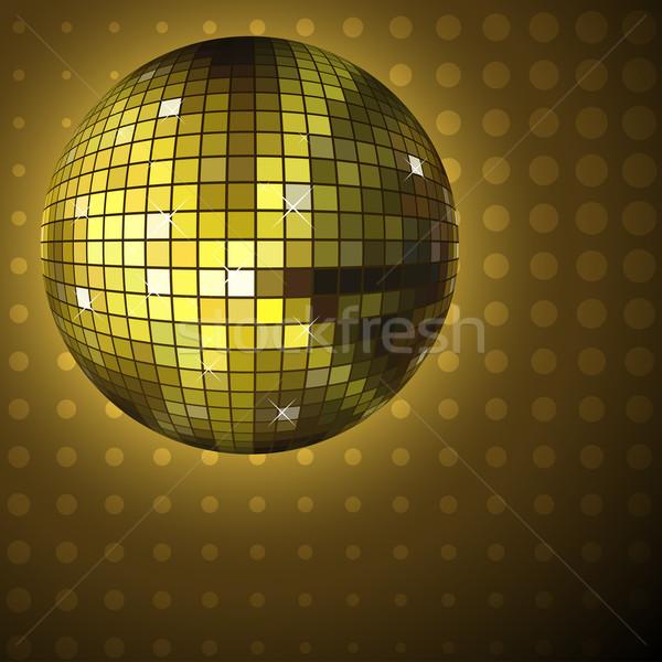 Golden disco ball. Stock photo © tuulijumala